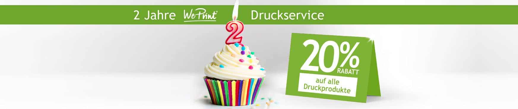 20% Rabatt auf alle Produkte - Avery Zweckform WePrint Birthday Sale